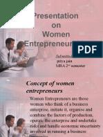 Presentation on Women Entrepreneurship