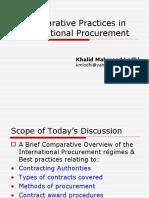 Practices in International Procurement