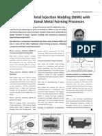 MIM vs traditional metal forming techniques