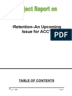 Retention–An Upcoming Issue for ACC