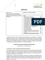 Circular nº17/DSDC/DEPEB/2007 - Gestão Currículo Pré-Escolar