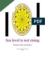 Sea Level is Not Rising by Professor Nils-Axel Mörner