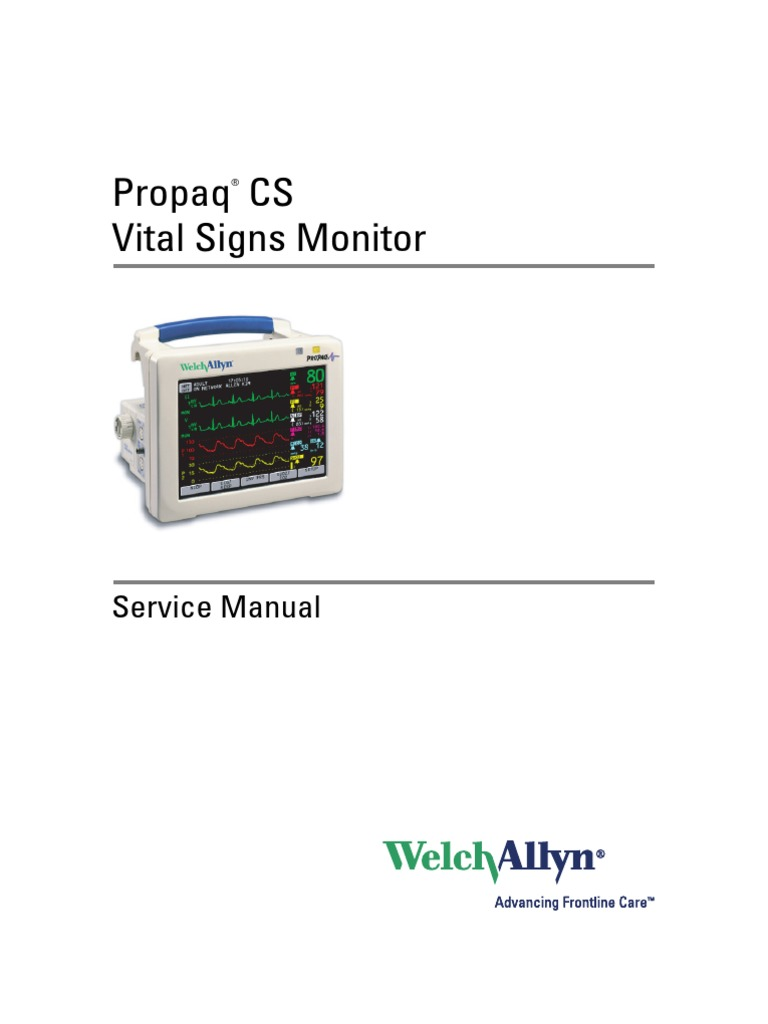 Service Manual Welchallyn Propaqcs Monitor | Power Supply | Electrical  Connector