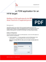 Building an FDM Application for an HFM Target