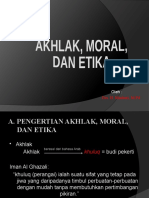 Akhlak, Etika, Dan Moral