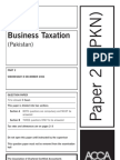 ACCA F6 Taxation Solved Past Papers