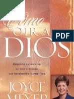 Como Oir a Dios - Joyce Meyer