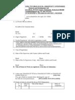 Research Scholar Progress Report Review Form