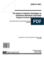 The Impact of Injection Strategies on Emissions Reduction and Power Output of Future Diesel Engines