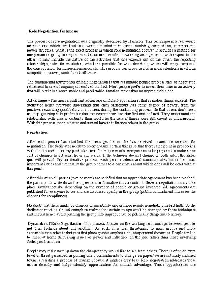 OD 6 PRINT | Negotiation | Awareness