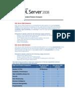 SQL Server Enterprise and Standard Feature Compare