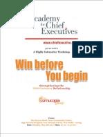 Win Before You Begin - New Delhi ACE Invitation