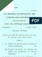 Nov- 1406- VII Sem Software Engg