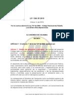 Ley 1383 de 2010 Modificacion Ley 769 Del 2002