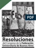 Resoluciones del Congreso de la FUBA 2011