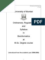 MSc Bioinformatics Syllabus