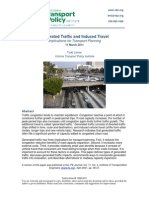Generated Traffic and Induced Travel  Implications for Transport Planning