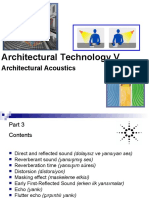 3-Mimaride Akustik - Açık kapalı mekan