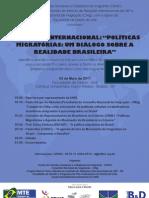 """Seminário """"Políticas Migratórias"""