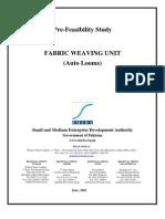 SMEDA Fabric Weaving Unit (Auto Looms)