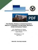 Justice IG Report FBI cyber agents