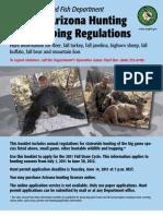 Arizona Hunting & Trapping Regulations 2011-12