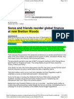 Soros and Friends Reorder Global Finance at New Bretton Woods