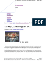 The Maya, Archaeology and 2012