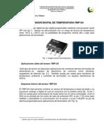 Aplicación sensor digital de temperatura  TMP124