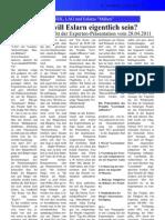 """Bericht - Projekt """"Leerstandsoffensive"""" v. 28.04.2011"""