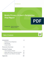 TRUSTe Mobile Privacy Report