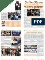 Periódico Unión Obrera-Edición Abril 2011
