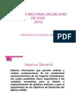 Encuesta Nacional Calidad de Vida 2010 - Dane