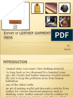 Export of Leather Garments From India