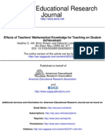 Effects of Teachers' Mathematical Knowledge for Teaching on Student