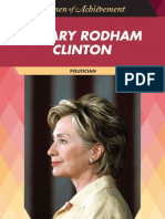 Hillary Rodham Clinton Politician Women of Achievement