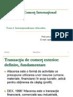 Pre Zen Tare TEMA1TCI Internationalizarea Afacerilor