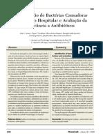 identificação de bacterias causadoras de infecção hospitalar