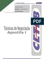 TECNICAS DE NEGOCIACAO - Prof. Fabiola