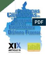 Experiencias Ciudadanas en el Derecho de Acceso a la Información en el Distrito Federal