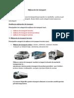 Clasificarea Mijloacelor de Transport