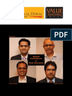 Motilal Oswal AMC Value Investing Forum - 19th March 2010[1]