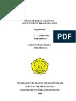 Proposal Praktek Kerja Lapangan