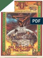Did God Create the Devil