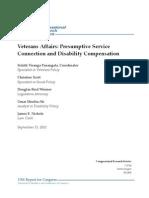 Veterans Affairs Presumptive Service Connection and Disability Compensation,