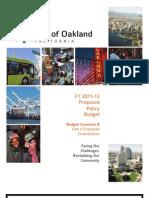 Oakland Budget 2011-13 B