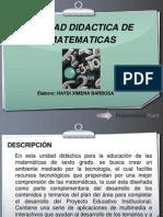 INFORMACIÓN BASICA DE LA UNIDAD DIDACTICA