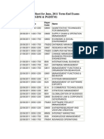 DateSheet for June 2011 Term End Exams