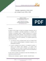 Biotipologia Eugenesia y Orden Social en Argentina 1930 1943