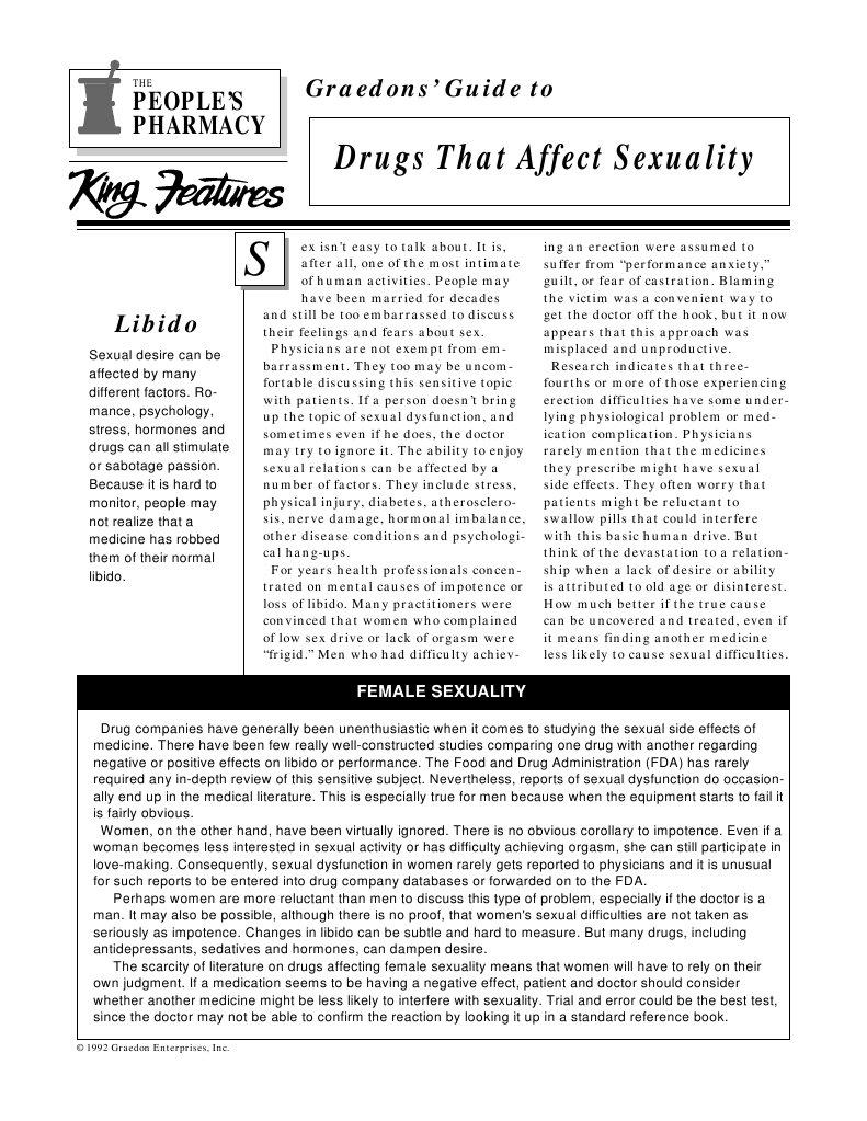 Dyazide cause low sex drive